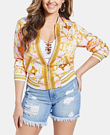 Rae Printed Bomber Jacket