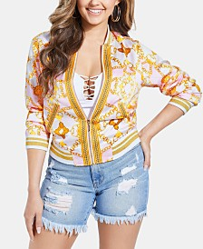GUESS Rae Printed Bomber Jacket