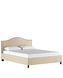 Low Profile Jameson Nail Button Platform Bed - Queen