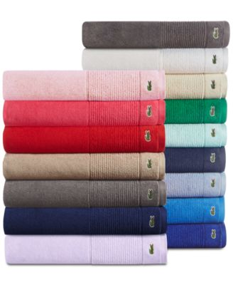 "Lacoste Legend 30"" x 54"" Supima Cotton Bath Towel, Sold Individually"