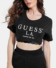 GUESS Cropped Logo T-Shirt