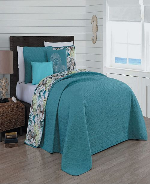 Heritage Bay Surf City 4-pc Twin Reversible Quilt Set