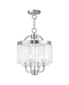 Livex Ashton 4-Light Convertible Mini Chandelier/Ceiling Mount