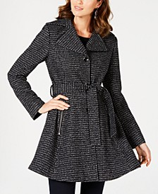 INC Plaid Skirted Belted Coat, Created for Macy's