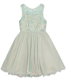 Little Girls Embroidered-Floral Dress