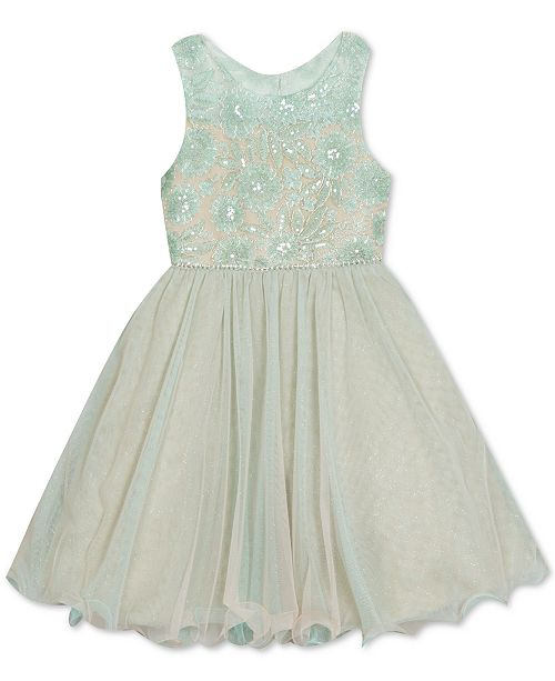 Rare Editions Little Girls Embroidered-Floral Dress