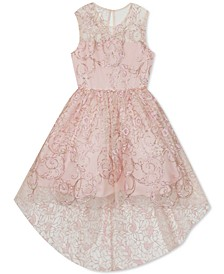 Little Girls Glitter High-Low Dress