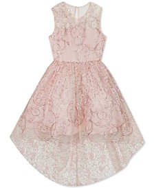 Rare Editions Little Girls Glitter High-Low Dress
