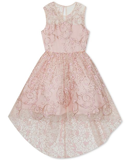 Rare Editions Toddler Girls Glitter High-Low Dress