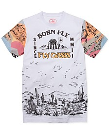 Born Fly Big & Tall Men's Cactus Graphic T-Shirt