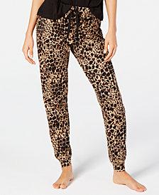 Jenni Printed Sleep Cheetah Print Jogger Pant, Created for Macy's