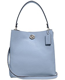 COACH Polished Pebble Leather Charlie Bucket Crossbody