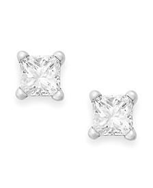 Princess-Cut Diamond Stud Earrings in 10k Yellow or White Gold (1/4 ct. t.w.)