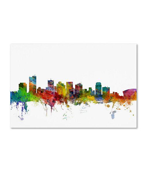 "Trademark Global Michael Tompsett 'Phoenix Arizona Skyline' Canvas Art - 12"" x 19"""