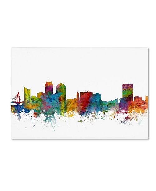 "Trademark Global Michael Tompsett 'Wichita Kansas Skyline' Canvas Art - 12"" x 19"""