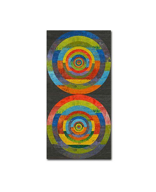 "Trademark Global Michelle Calkins 'Full Circle 3.0' Canvas Art - 10"" x 19"""