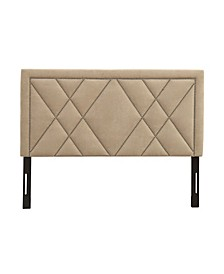 Contemporary Upholstered Tufted Nailhead Queen Headboard
