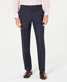 Lauren Ralph Lauren Men's Classic-Fit UltraFlex Stretch Navy Blue Plaid Suit Pants