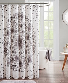 Emma Printed Medallion Shower Curtain