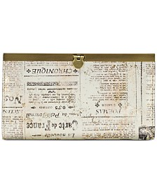 Patricia Nash Cauchy Newspaper Print Wallet