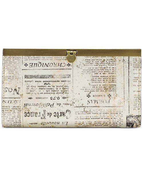 Patricia Nash Cauchy Newspaper Print Wallet