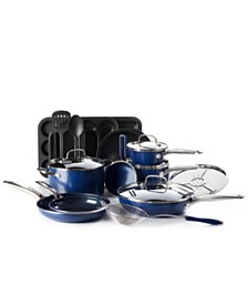 Blue Diamond 20-Pc. Ceramic Non-Stick Diamond-Infused Cookware Set