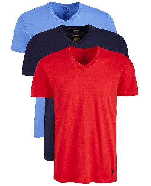 Polo Ralph Lauren Men's 3-Pk. Classic V-Neck T-Shirts