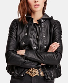 Free People New Dawn Faux-Leather Jacket
