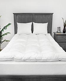 "2.5"" MemoryLOFT Queen 100% Cotton Cover Mattress Topper"
