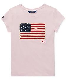 폴로 랄프로렌 여아용 티셔츠 Polo Ralph Lauren Toddler Girls Cotton Jersey Patriotic T-Shirt