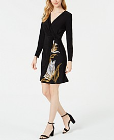Petite Twisted Faux-Wrap Dress
