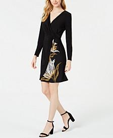 Petite Twisted Faux-Wrap Dress