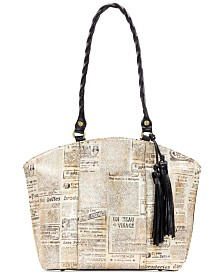 Patricia Nash Michel Newspaper Print Satchel