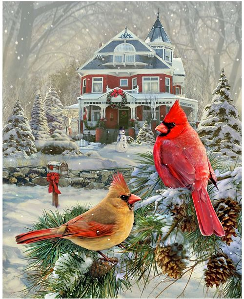 Springbok Puzzles Cardinal Holiday Retreat 1000 Piece Jigsaw Puzzle