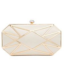 I.N.C. Alea Geometric Clutch, Created for Macy's