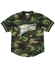 Men's Golden State Warriors Camo Mesh V-Neck Jersey Top