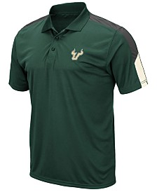 Colosseum Men's South Florida Bulls Color Block Polo