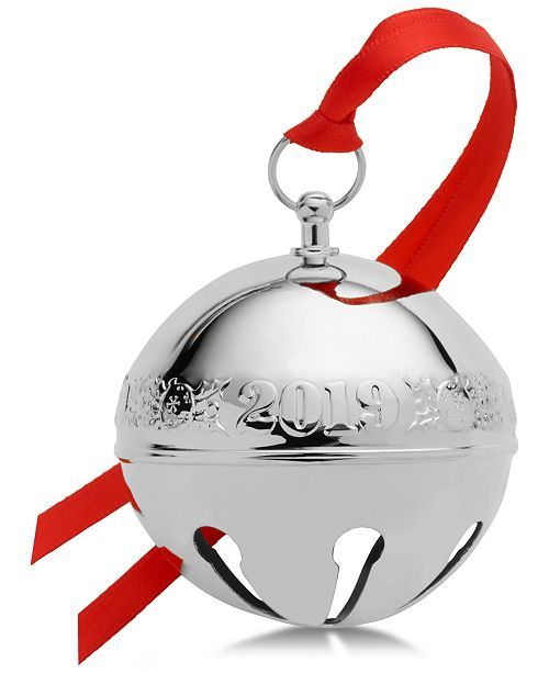 Wallace CLOSEOUT! Mikasa 2019 Sleigh Bell Ornament, 49th Edition