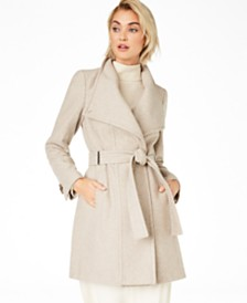 Calvin Klein Petite Belted Toggle Wrap Coat