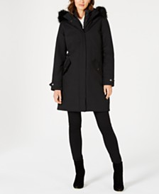 Barbour Bute Faux-Fur Hooded Puffer Coat