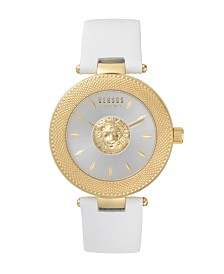 Versus Women's White Leather Strap Watch 20mm