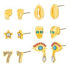 Steve Madden Women's Good Luck Collection Gold-Tone Earring Set