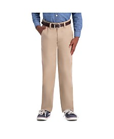 Haggar Boys Sustainable Chino, Slim Fit, Flat Front Pant Size 8 - 20