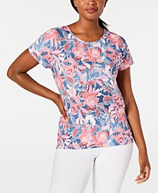 Wall Flower Printed Keyhole-Back Top, Created for Macy's