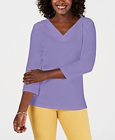 Eyelet-Trim Top, Created for Macy's