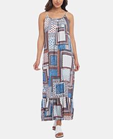 Ruffle-Hem Maxi  Dress