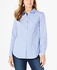 Cotton Printed Button-Front Top, Created for Macy's