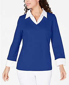 Cotton Layered-Look Top, Created for Macy's