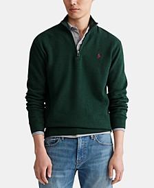Men's Textured Quarter-Zip Sweater