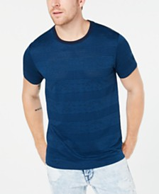 3347a38dd6c2 GUESS Men's Perforated Striped T-Shirt